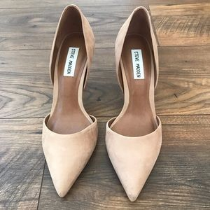 ✨Steve Madden Taupe Suede Pumps Sz 8